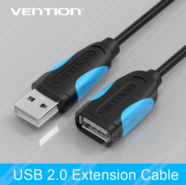 Cáp USB 2.0 Vention nối dài cao cấp 5m VAS-A05-B500-N