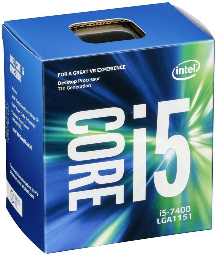 CPU INTEL Core™i5-7400 3.0GHzup to 3.6GHz/(4/4)/6MB/Socket1151