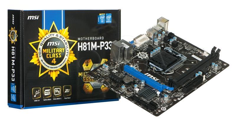 Main msi H81M-P33