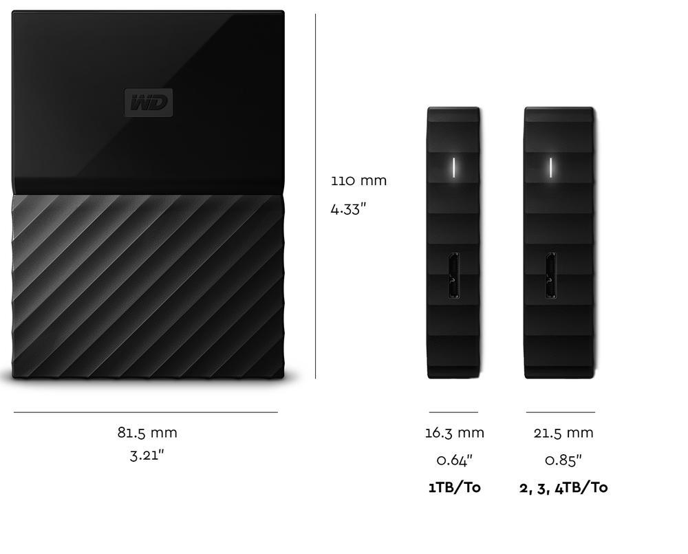 ổ cứng di động Western My Passport 4Tb- Đen(5400rpm/ USB3.0/ 2.5Inch)