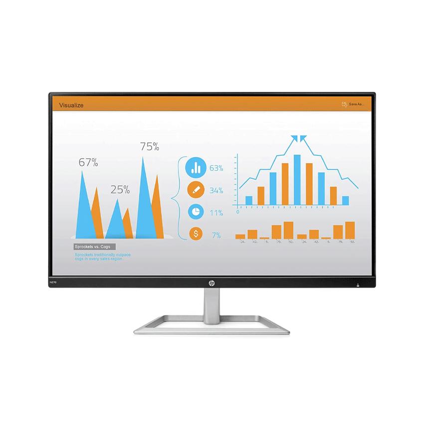 Màn hình HP N270 (27 inch/FHD/LED/IPS/250cd/m²/HDMI+VGA/60Hz/5ms)