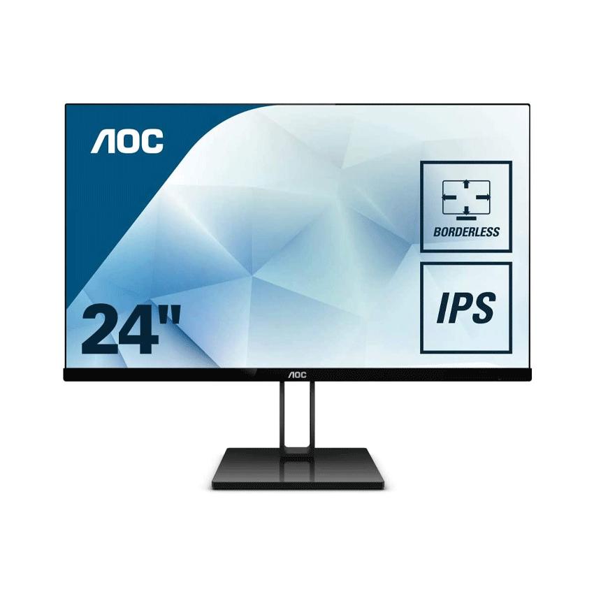 Màn hình AOC 24V2Q (23.8 inch/LED/IPS/75Hz/250cd/m²/DP+HDMI/5ms)