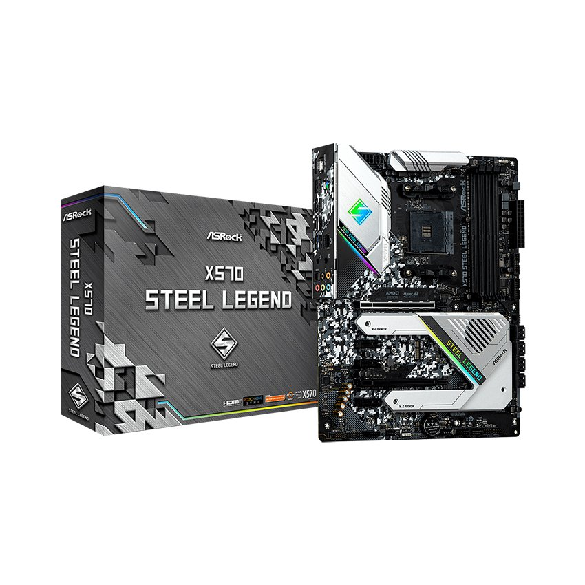 Mainboard ASROCK X570 Steel Legend (AMD X570, Socket AM4, ATX, 4 khe RAM DDR4)