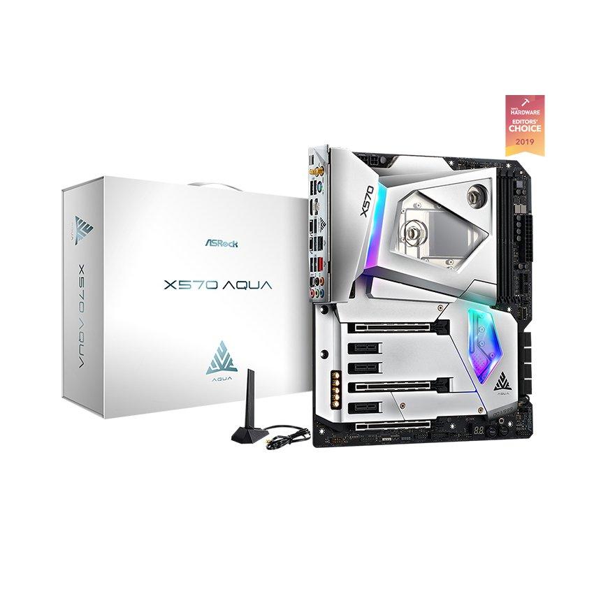 Mainboard ASROCK X570 Aqua (AMD x570, Socket AM4, E-ATX, 4 khe RAM DDR4)