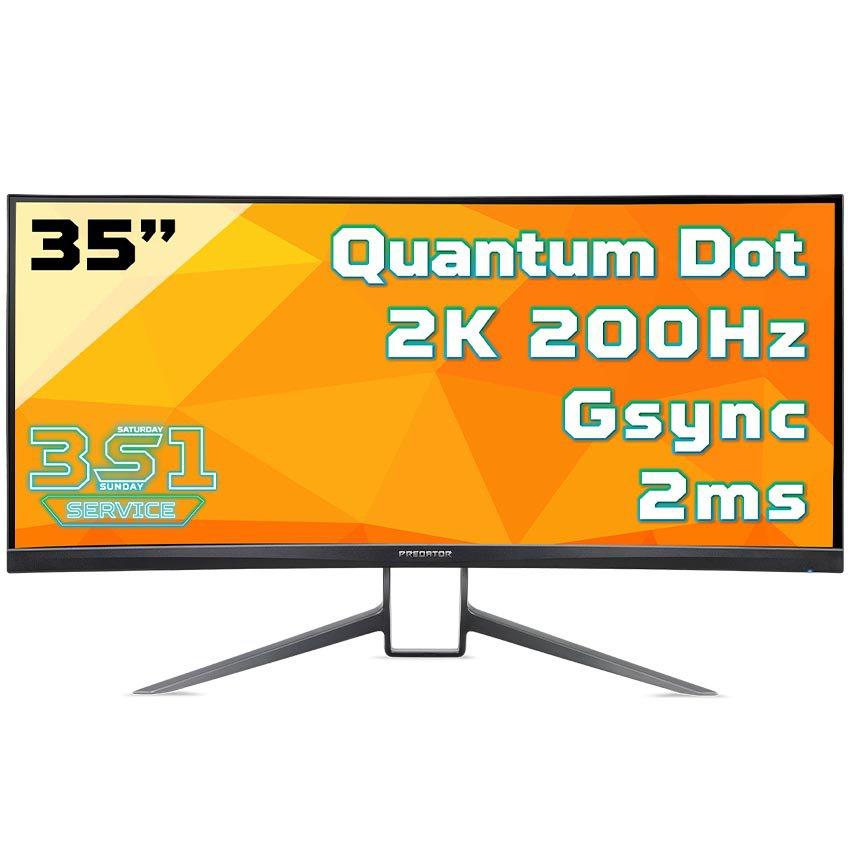Màn hình Acer Predator X35 (35 inch/3440 x 1440/VA/600nits/HDR1000/1.07 billion/200Hz/DP+HDMI/2ms)