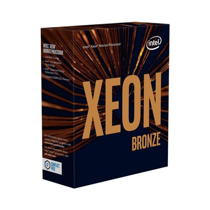 CPU Intel Xeon Bronze 3204 (1.9GHz, 6 nhân, 6 luồng, 8.25 MB Cache, 85W) - Socket Intel LGA 3647