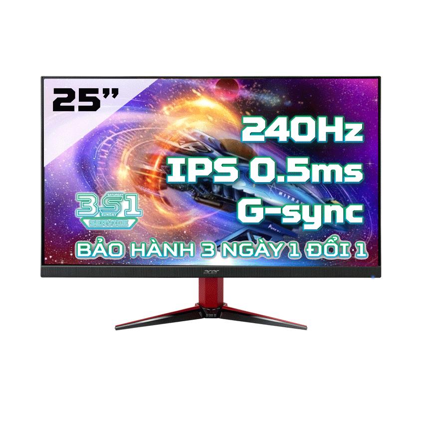 Màn Hình Acer VG252QX (25 inch/FHD/IPS/240Hz/0.5 ms/400 nits/DP+HDMI/G-Sync)