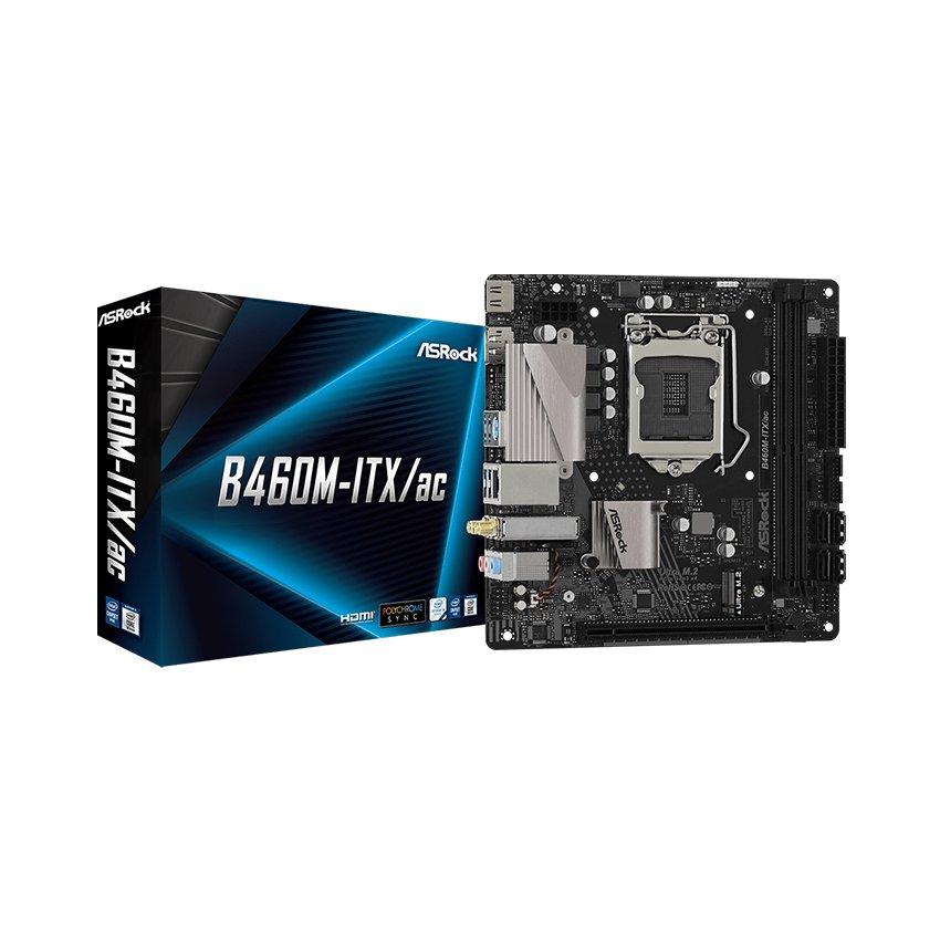 Mainboard ASROCK B460M-ITX/ac (Intel B460, Socket 1200, Mini-ITX, 2 khe Ram DDR4)