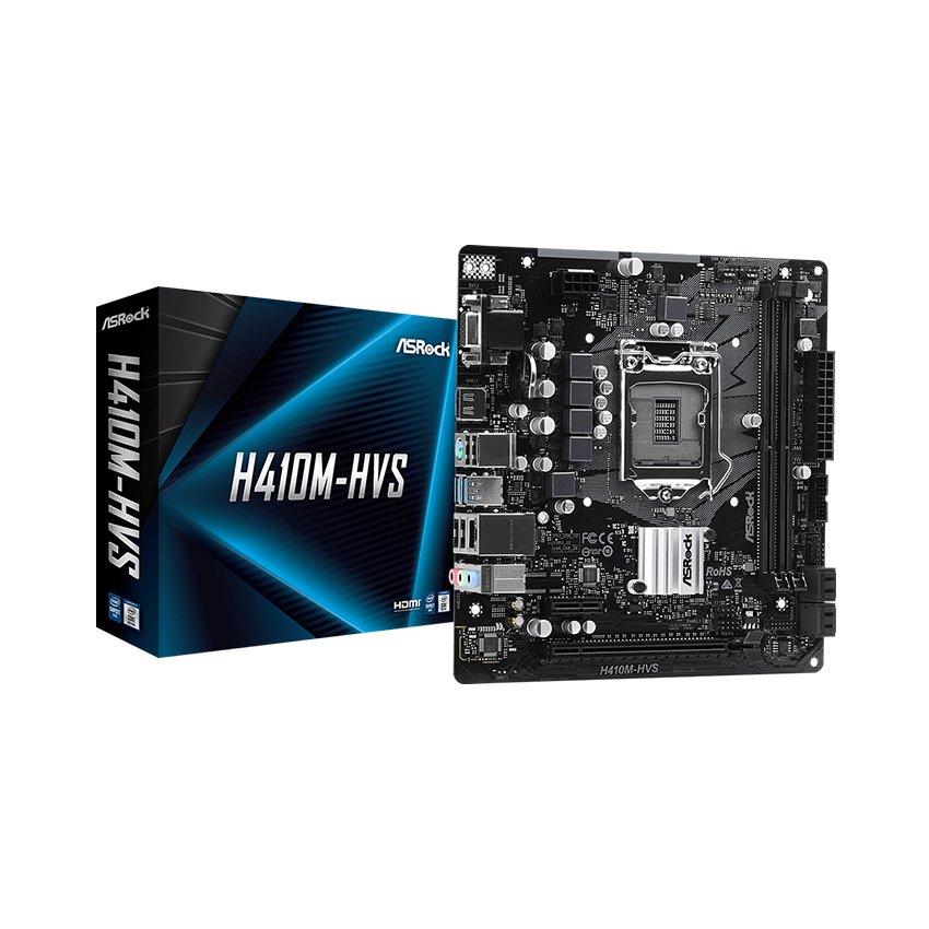 Mainboard ASROCK H410M-HVS (Intel H410, Socket 1200, m-ATX, 2 khe Ram DDR4)