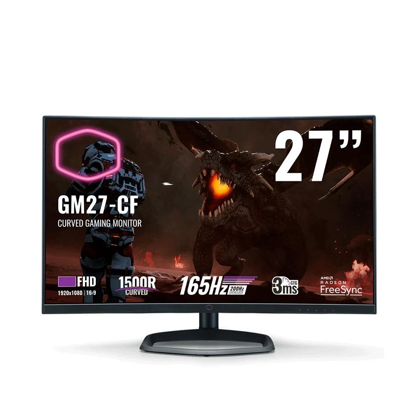 Màn hình Cooler Master GM27-CF (27 inch/FHD/VA/165Hz/3ms/300 nits/HDMI+DP/Loa/FreeSync)