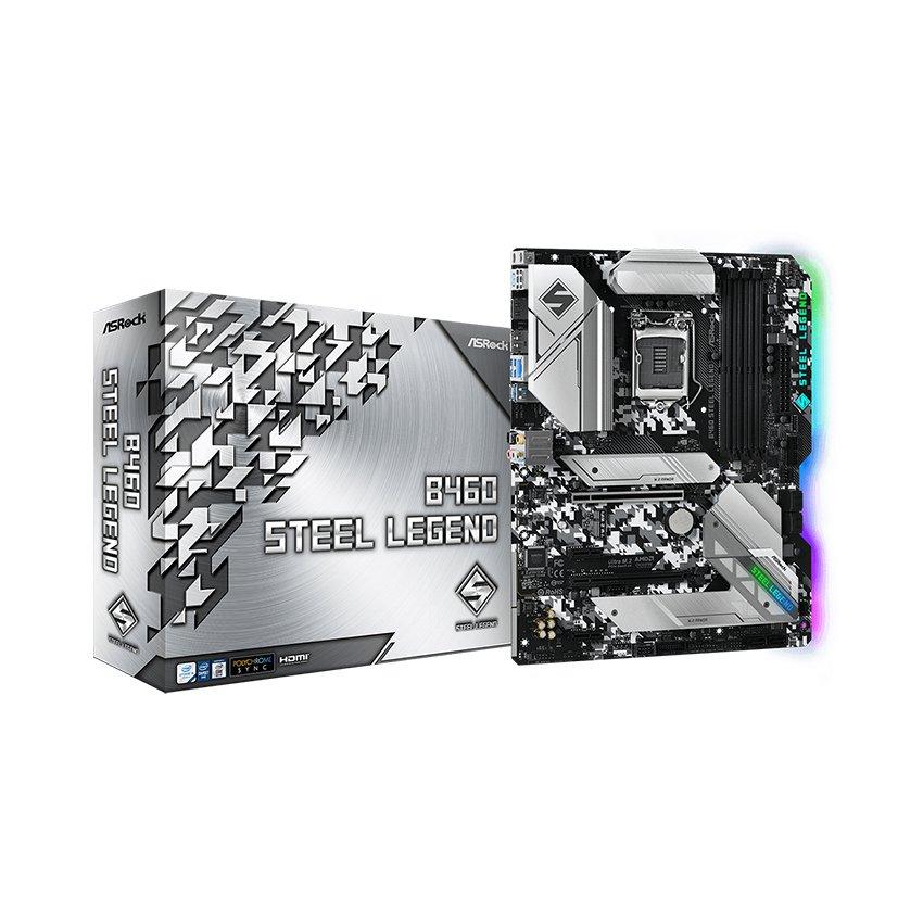 Mainboard ASROCK B460 STEEL LEGEND (Intel B460, Socket 1200,ATX, 4 khe Ram DDR4)