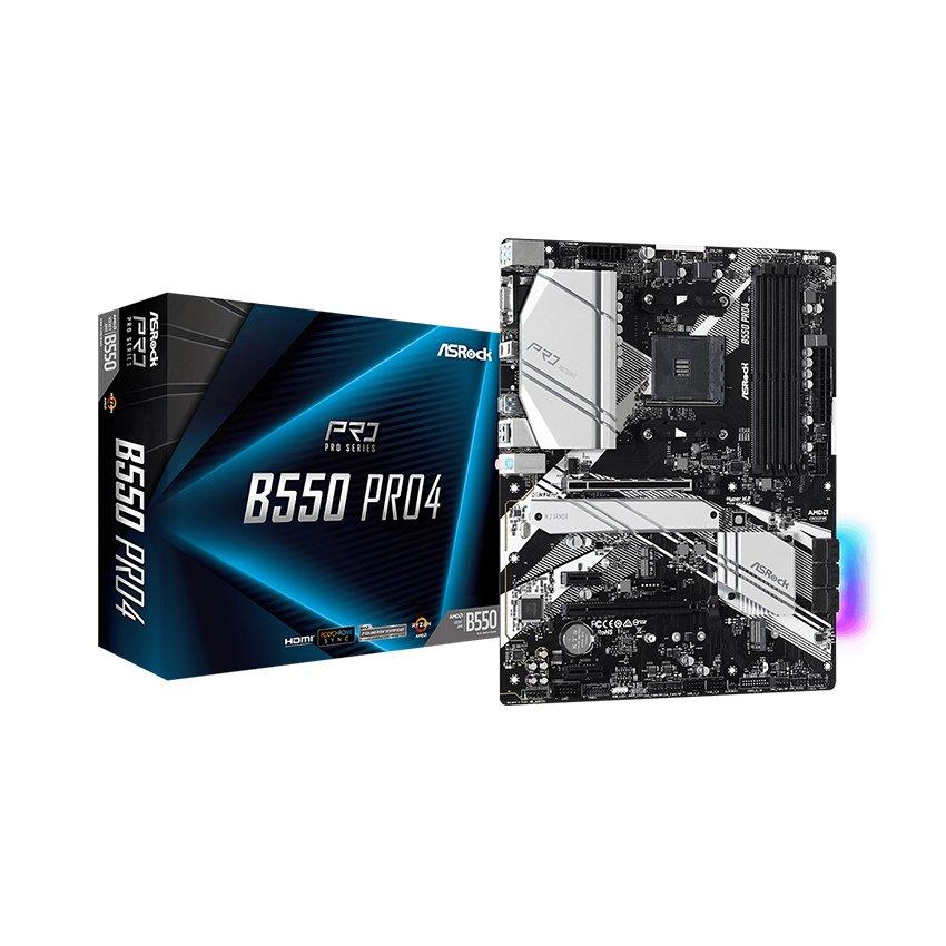 Mainboard ASROCK B550 PRO4 (AMD B550, Socket AM4, ATX, 4 khe RAM DDR4)