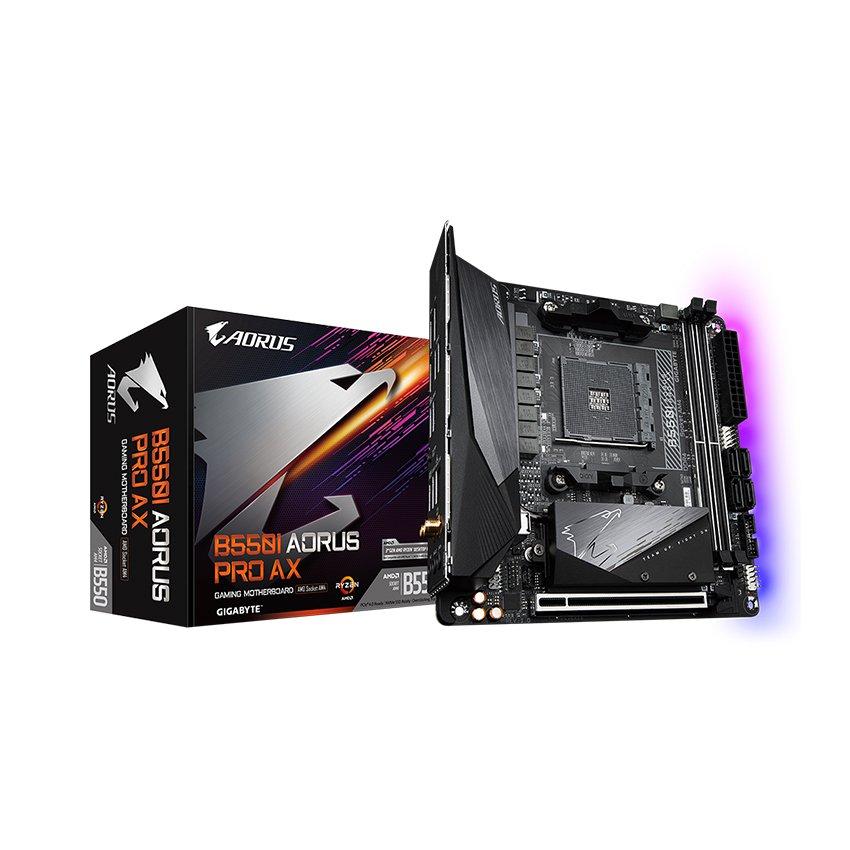 Mainboard Gigabyte B550 AORUS PRO AX (AMD B550, Socket AM4, Mini-ATX, 2 khe RAM DDR4)