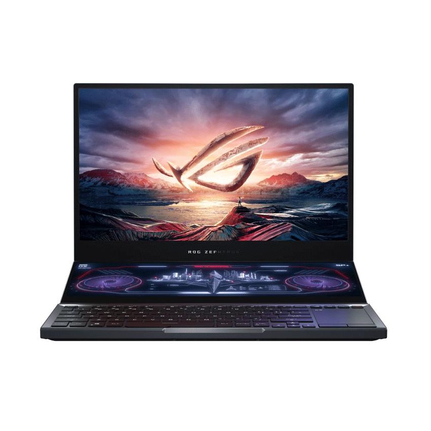 Laptop Asus Gaming ROG Zephyrus Duo GX550LWS-HF102T (i7 10875H/16GB RAM/1TB SSD/15.6 FHD 300hz/RTX 2070 S Max-Q 8GB/Win10/Balo/Xám)