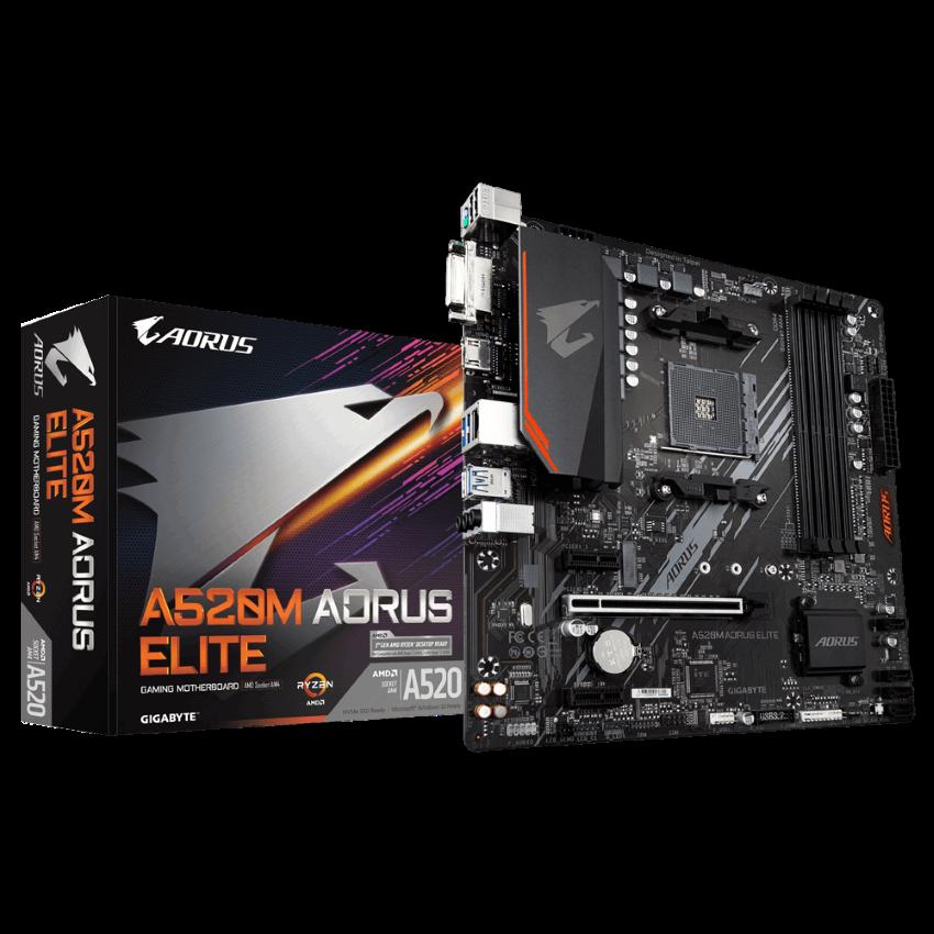 Mainboard Gigabyte A520M AORUS ELITE (AMD A520, Socket 1200, m-ATX, 4 khe RAM DDR4)