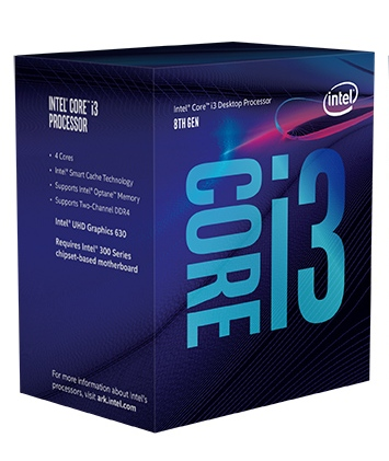 Bộ VXL Intel Coffeelake Core i3 8100