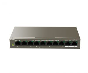 Switch 10-Cổng 10/100Mbps 8 cổng PoE 2 cổng Giga Tenda TEF1110PSwitch 10-Cổng 10/100Mbps