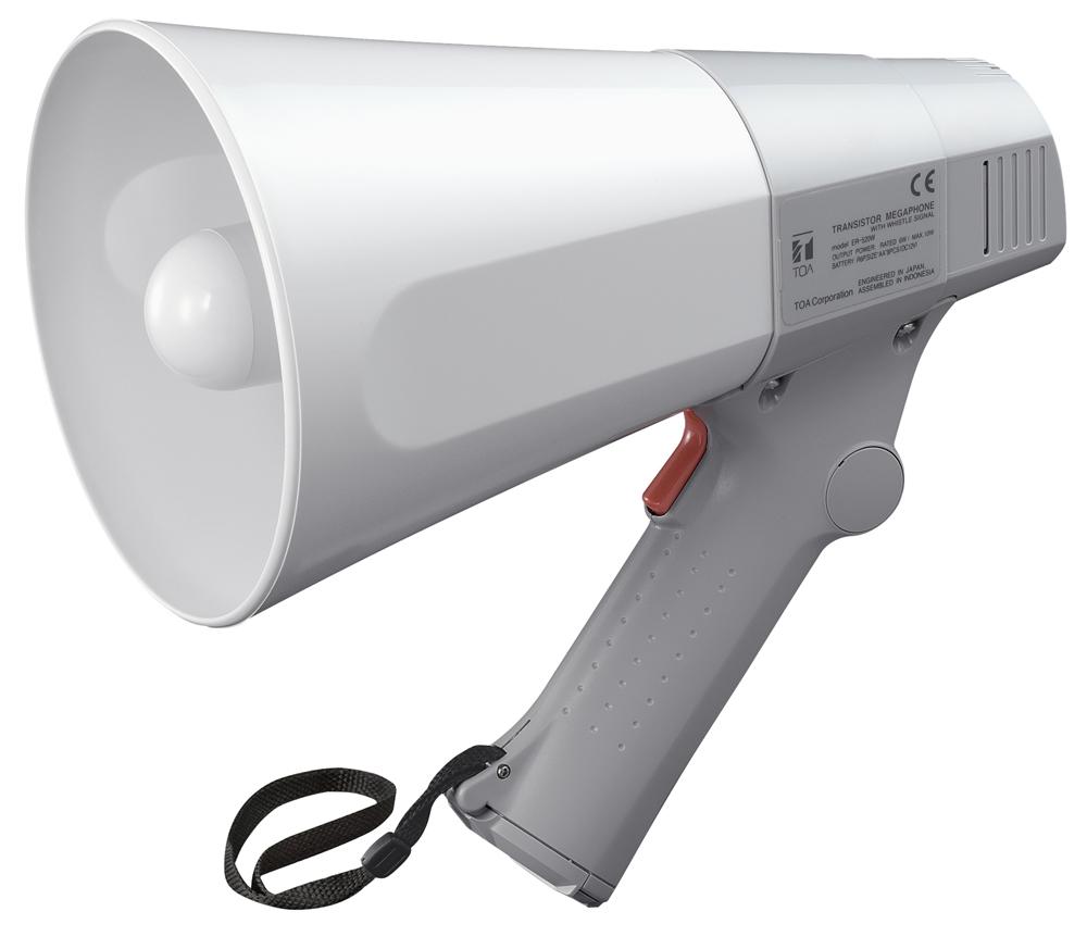Loa phát thanh cầm tay 6W TOA ER-520W (có còi hụ)