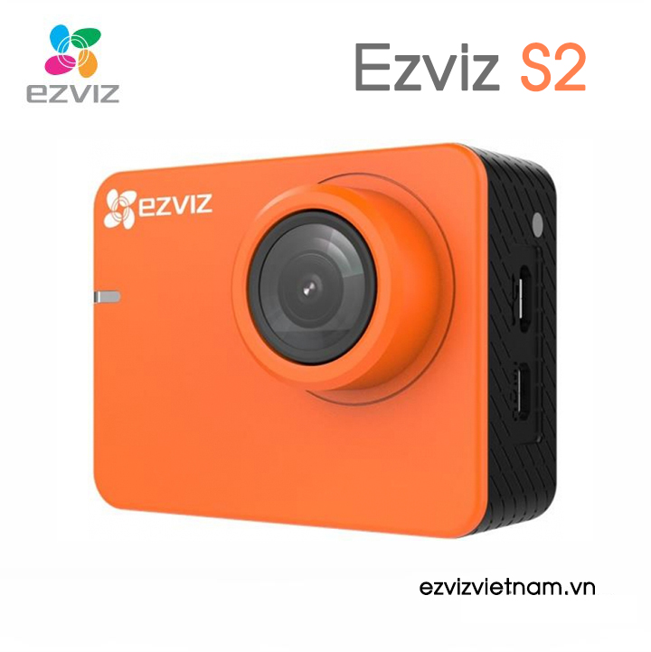 MÁY ẢNH DASH EZVIZ CS-SP206 B0-68WFBS S2 MÀU CAM WI-FI BLUETOOTH FHD 60FPS (ORANGE)