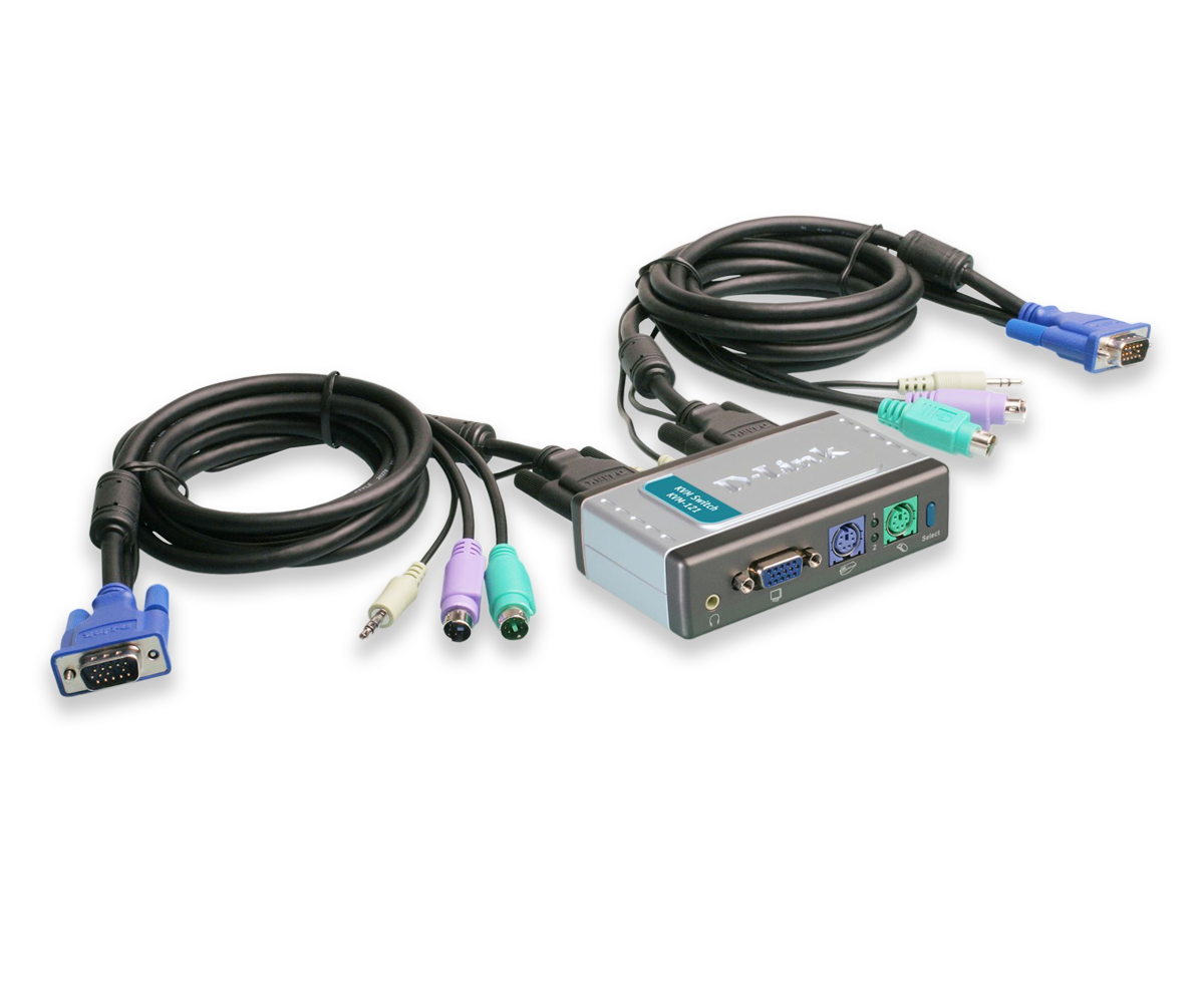 Thiết bị chuyển mạch D-Link KVM-121 2-Port PS/2 KVM Switch with Audio Support