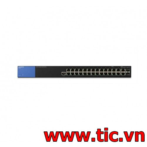 linksys LGS528 26-port 10/100/1000mbps Managed Switch  + 2 RJ45/2 SFP Combo