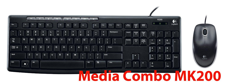 Bộ bàn phím chuột có dây Logitech MK200