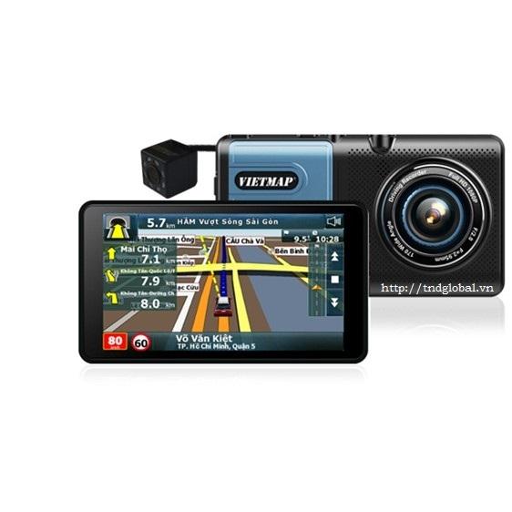Vietmap A50 – Camera Hành Trình Trước Sau Kiêm Dẫn Đường + Cam lùi