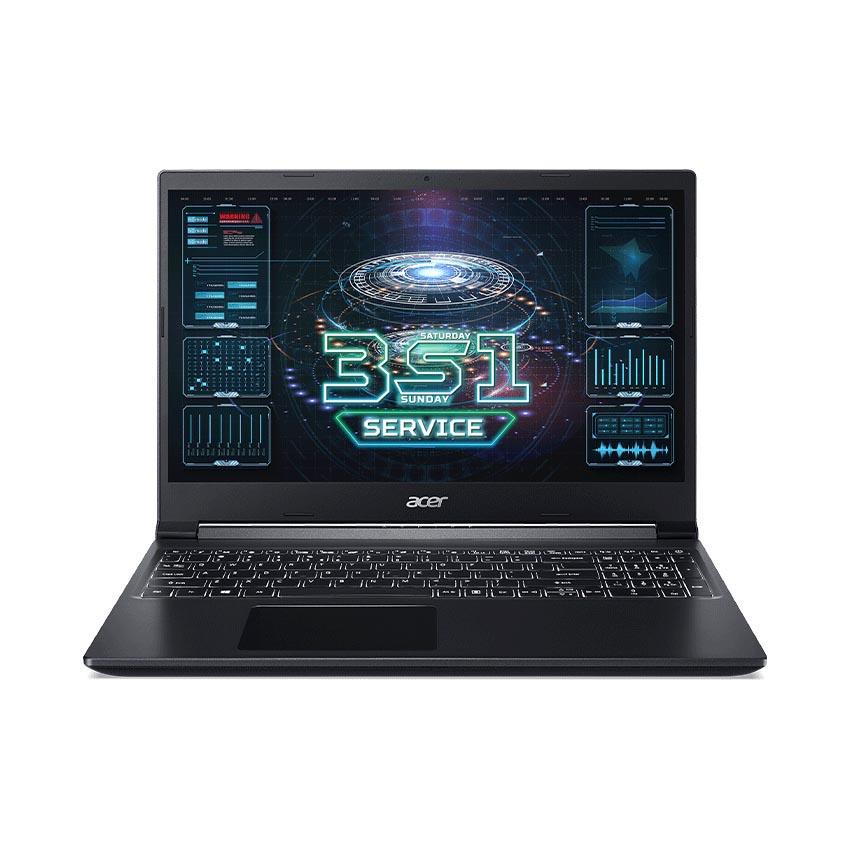 Laptop Acer Gaming Aspire 7 A715-41G-R282 (NH.Q8SSV.005) (Ryzen 5 3550H/8GB RAM/512GB SSD/GTX1650Ti 4G DDR6/15.6 inch FHD IPS/Win10/Đen