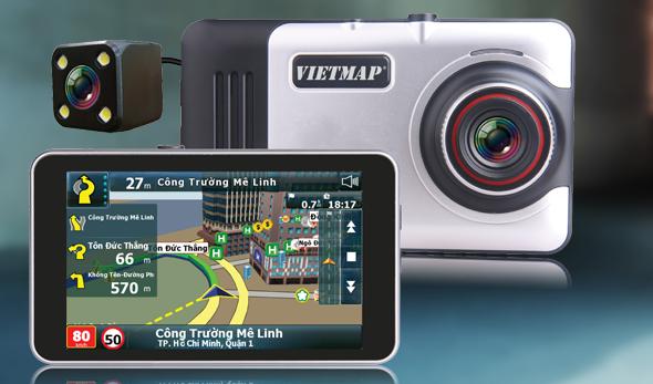 Thiết bị dẫn đường Vietmap A45 2 mắt camera trước sau