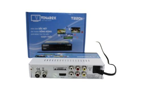 VINABOX T220S – ĐẦU KTS DVB T2 – THẾ HỆ MỚI 2020 – XEM TRUYỀN HÌNH MIỄN PHÍ TỚI 78 KÊNH.