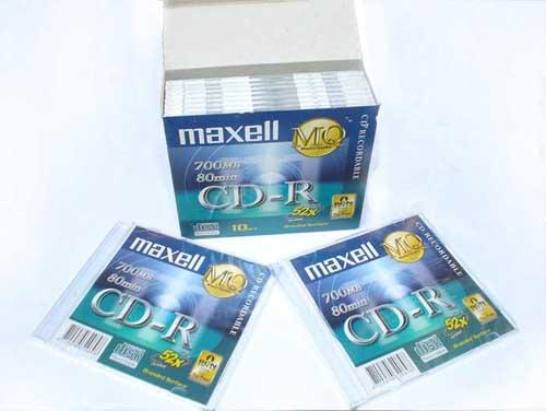 Đĩa CD trắng Maxell 700MB có vỏ