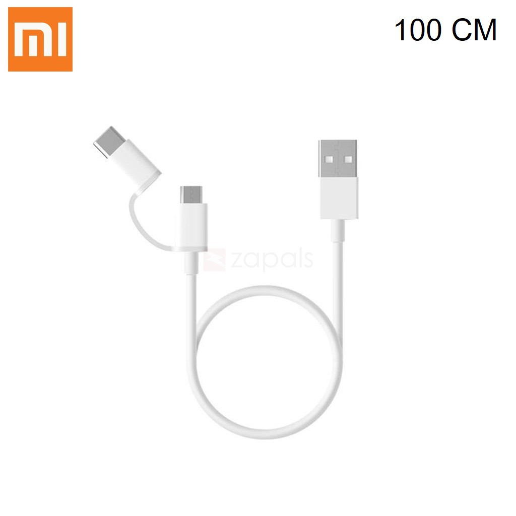 Cáp sạc XIAOMI MI 2-IN-1 USB CABLE MICRO USB TO TYPE C (100CM)-SJV4082TY