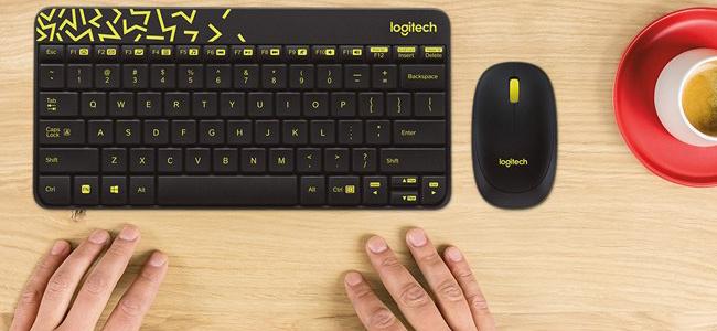 WIRELESS COMBO bàn phím chuột không dây MK240(Trắng/Đen/Vàng/Đỏ)