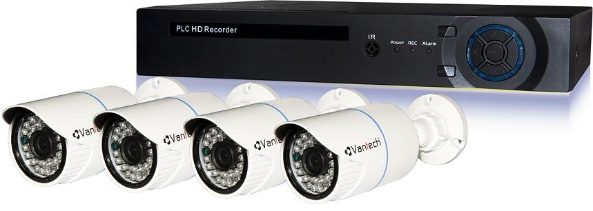 Bộ đầu ghi hình camera IP 4 kênh-Công nghệ PLC VANTECH VPP-01A