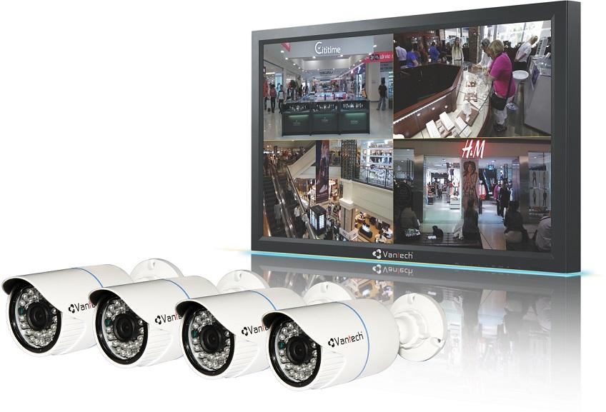 Bộ đầu ghi hình camera IP 4 kênh-Công nghệ PLC VANTECH VPP-01C