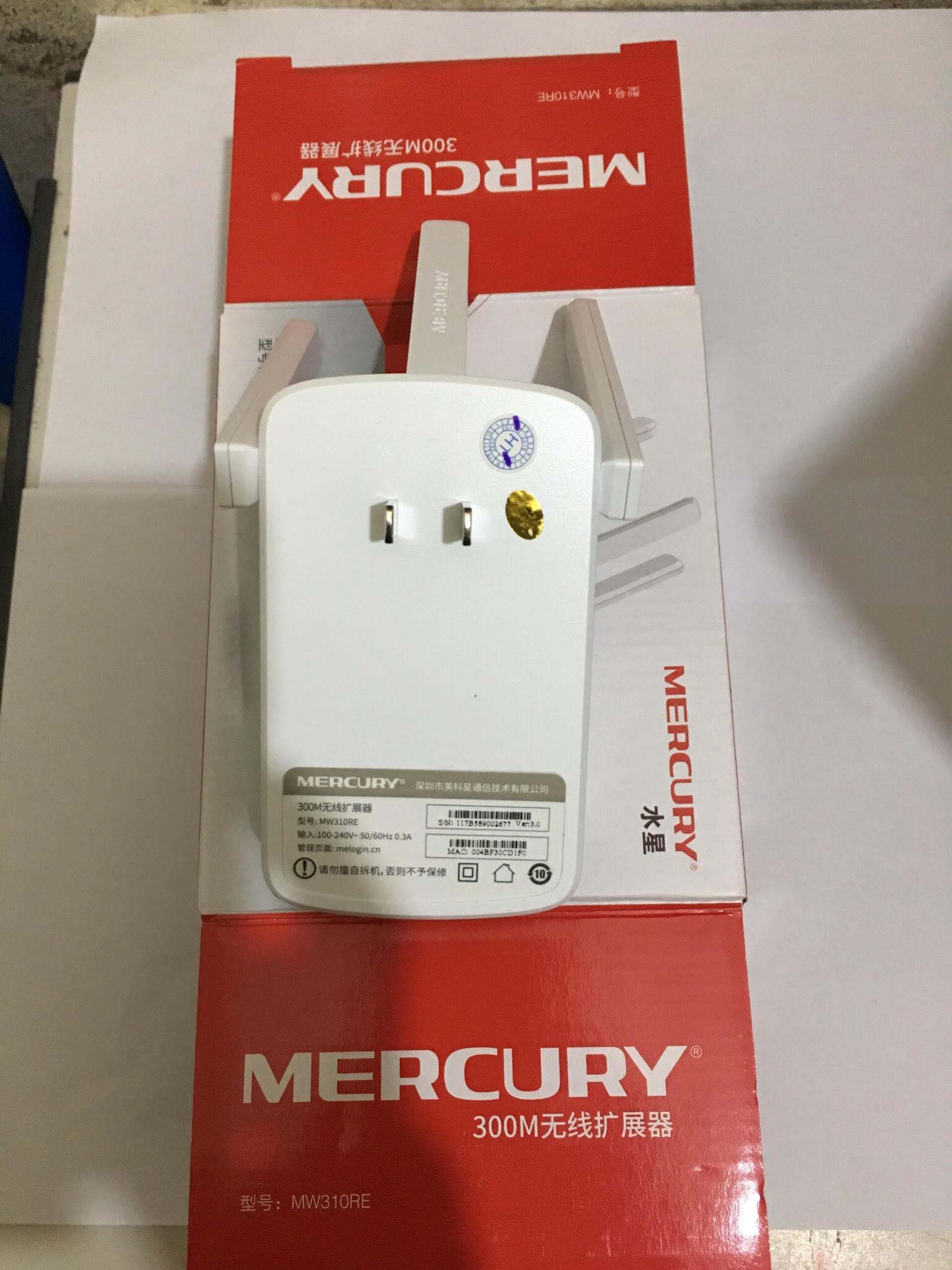 Bộ Kích sóng Wifi Mercury Repeater MW310RE 3 Anten