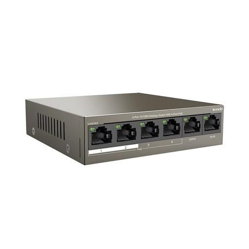 Switch Tenda TEF1105P 6-Port 10/100Mbps PoE